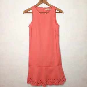 NWT Ann Taylor LOFT 0 P Sleeveless Scalloped Dress